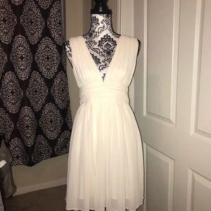 Gorgeous layered sexy v dress